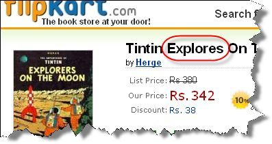 Flipkart.com Tintin Explores on the Moon