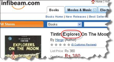 Infibeam.com Tintin Explores the Moon